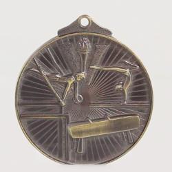 Embossed Gymnastics Medal 52mm Gold