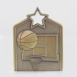 Shield Medal Basketball 60mm Gold