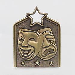 Shield Medal Drama 60mm Gold
