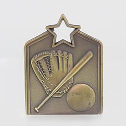 Shield Medal Baseball 60mm Gold
