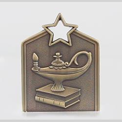 Shield Academic Medal 60mm Gold