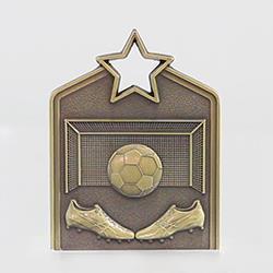 Shield Medal Soccer 60mm Gold