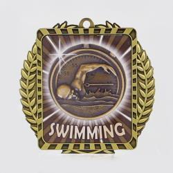 Lynx Wreath Swimming Medal Gold
