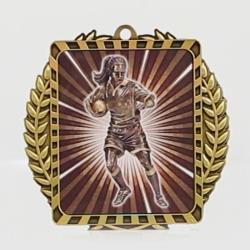 Lynx Wreath Rugby Female Medal Gold