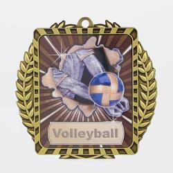Lynx Wreath Volleyball Medal Gold