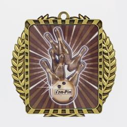Lynx Wreath Tenpin Medal Gold