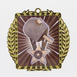 Lynx Wreath Table Tennis Medal Gold