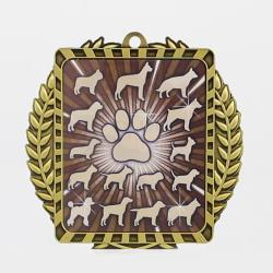 Lynx Wreath Dogs Gold