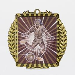 Lynx Wreath Soccer Female Medal Gold