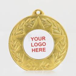 Decagram Personalised Medal 50mm - Shiny Gold