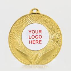 Spatial Personalised Medal 50mm - Shiny Gold