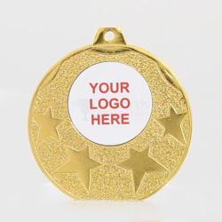 Starburst Personalised Medal 50mm - Shiny Gold