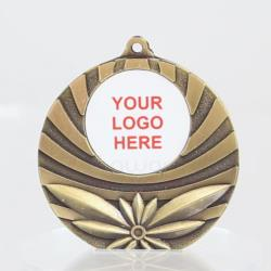 Astro Personalised Medal 50mm - Antique Gold