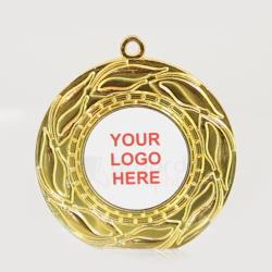 Blaze Personalised Medal 50mm - Shiny Gold