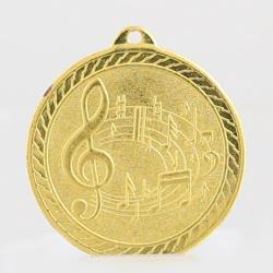 Chevron Music Medal 50mm - Gold