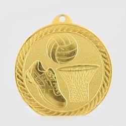Chevron Netball Medal 50mm - Gold