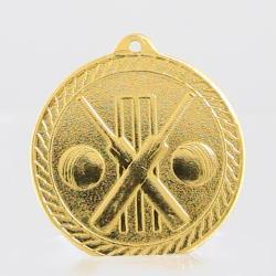 Chevron Cricket Medal 50mm - Gold