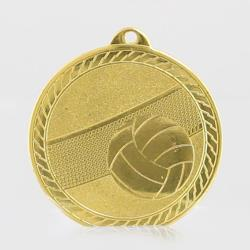 Chevron Volleyball Medal 50mm - Gold