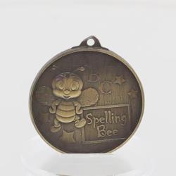 Spelling Bee Medal 52mm Gold