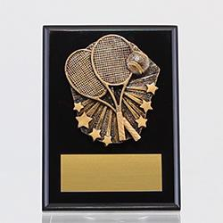 Cosmos Tennis Black Plaque 150mm