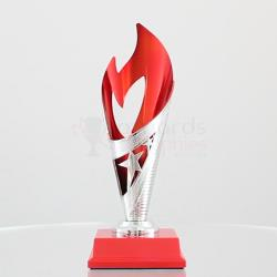 Flame Cup Red/Silver 220mm