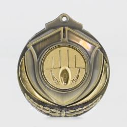 Two Tone Aussie Rules Medal 50mm Gold