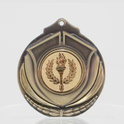 Two Tone Victory Torch Medal 50mm Gold