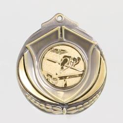 Two Tone Snooker Medal 50mm Gold