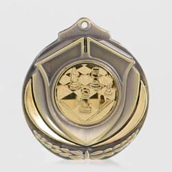 Two Tone Chess Medal 50mm Gold