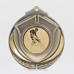 Two Tone BMX Medal 50mm Gold
