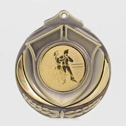 Two Tone Ballroom Medal 50mm Gold