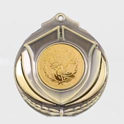 Two Tone Golf Medal 50mm Gold