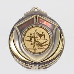 Two Tone Male Gymnastics 50mm Gold