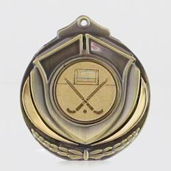 Two Tone Hockey Medal 50mm Gold