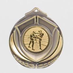 Two Tone Kick Boxing Medal 50mm Gold