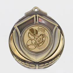 Two Tone Motorsport Medal 50mm Gold