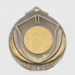 Two Tone Soccer Medal 50mm Gold