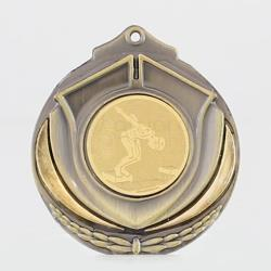 Two Tone Male Swimmer 50mm Gold