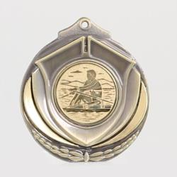 Two Tone Rowing Medal 50mm Gold