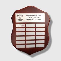 Assembly Shield Distinction Silver 340mm