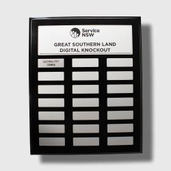 Assembly Plaque Classic Silver 325mm