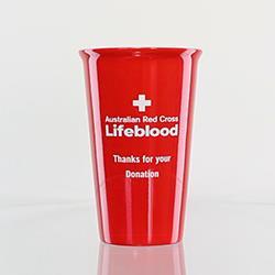 Laserable Red Latte Mug 415ml