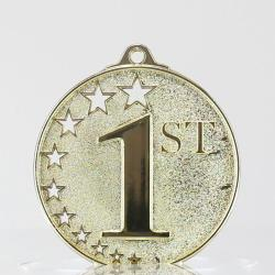 Star Medal First Place Gold 50mm