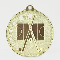 Star Hockey Medal 52mm Gold