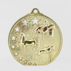 Star Equestrian Medal 52mm Gold