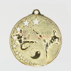 Star Karate Medal 52mm Gold