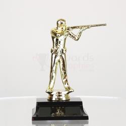Trap Shooter figurine on base (Male or Female) 165mm