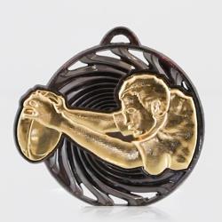 Vortex Rugby Medal 55mm Gold