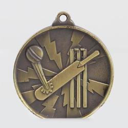 Lightning Cricket Medal 55mm Gold