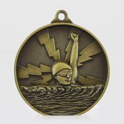 Lightning Swimming Medal 55mm Gold